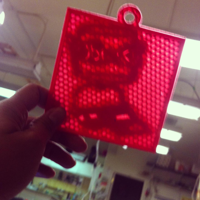 3D lithograph printout