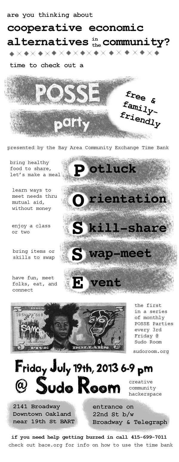 posse party flier july 19th 2013