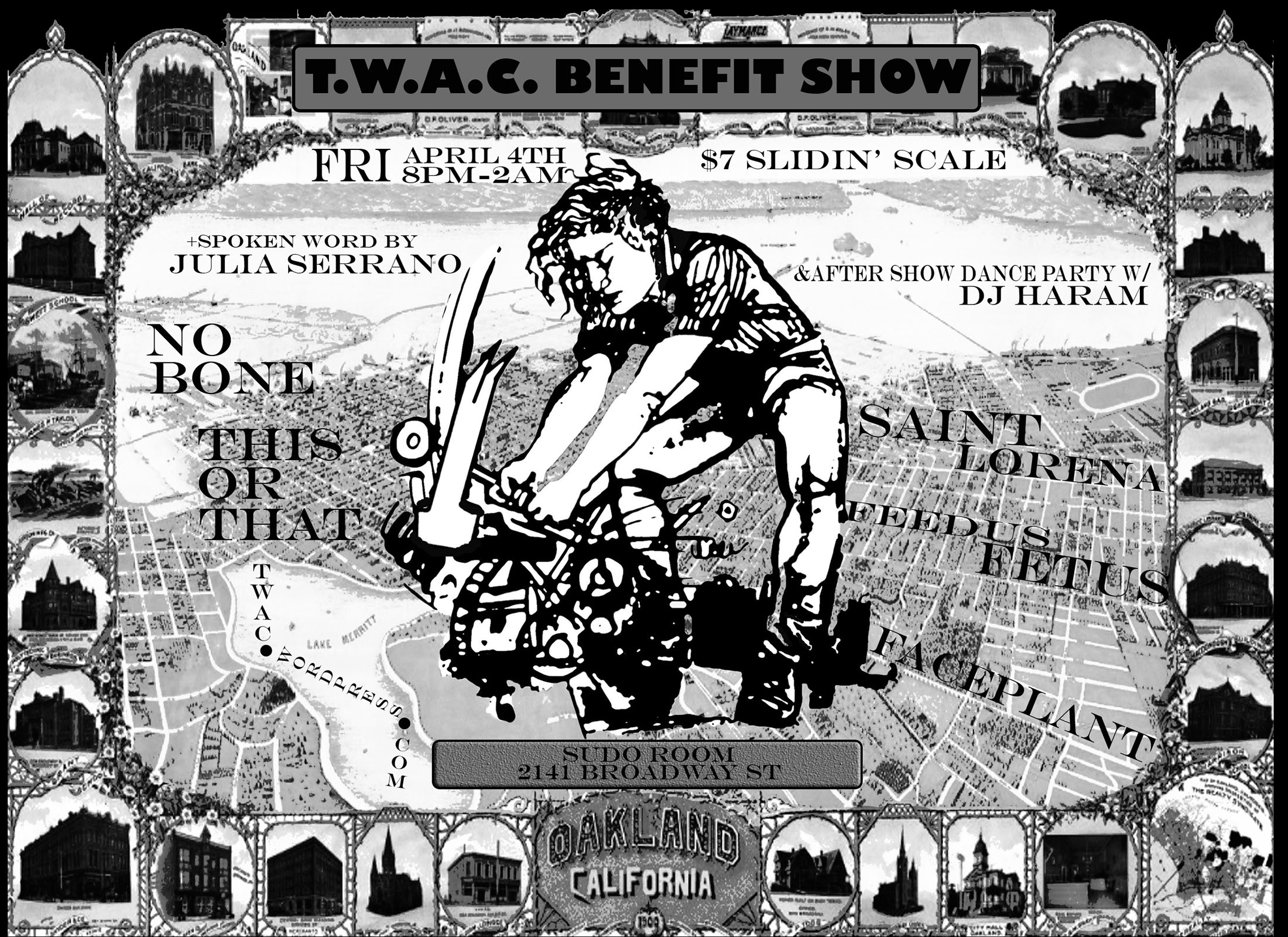 TWAC Benefit Show @ Sudo Room Common Area | Oakland | California | United States